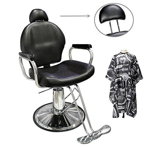 Ediors Hydraulic Barber Chair Styling Salon Spa Beauty Barbershop Equipment  Black By Ediors