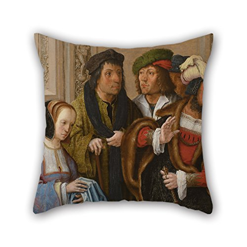 [Uloveme 18 X 18 Inches / 45 By 45 Cm Oil Painting Lucas Van Leyden - Potiphar's Wife Displays Joseph's Garment Throw Cushion Covers ,2 Sides Ornament And Gift To Gf,him,valentine,drawing] (Potiphar Costume)