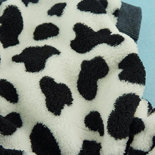 Fitwarm Adorable Milk Cows Pet Dog Clothes Comfy Velvet Winter Pajamas Coat Jumpsuit, Small by Fitwarm (Image #2)