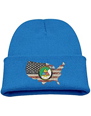 3rd Armored Division with Armor Insignia Decal US Flag Boy Girl Beanie Hat Knitted Beanie Knit Beanie