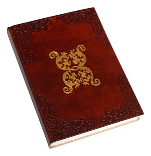 Large Circular Embossed Art Leather Journal (handmade) with Parchment paper and Gold accent / Instagram Photo Album – 20% off SALES