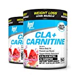 BPI Sports Cla + Carnitine Non-Stimulant Weight Loss Supplement Powder, 300 Gram, 50 Servings (2 Pack) (Watermelon)