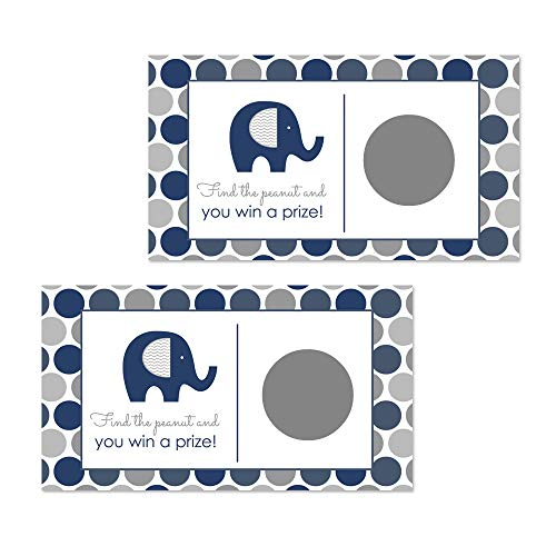 Navy Elephant Scratch Off Game - 28 Cards