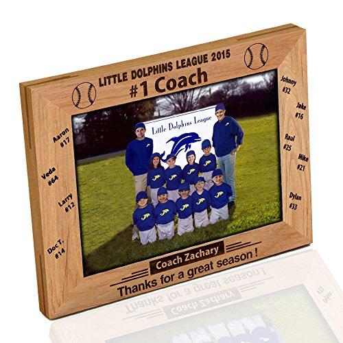 Basketball Photo Frame Award - Personazlied Baseball Coach Photo Frame