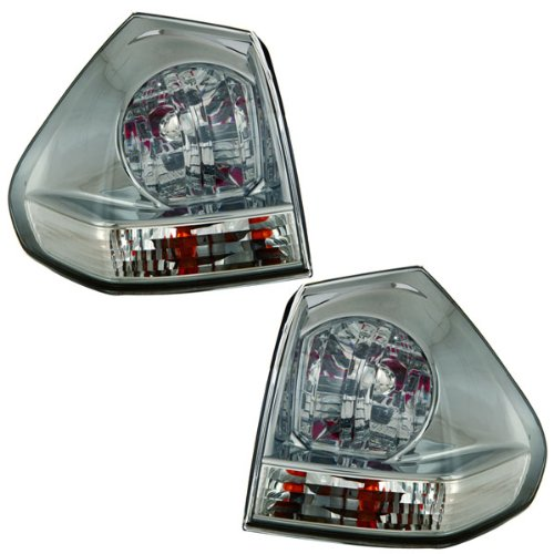 2004-2005-2006 Lexus RX330 & 2007-2008-2009 RX350 Taillight Taillamp Rear Brake Tail Light Lamp (Quarter Panel Outer Body Mounted) Pair Set Right Passenger And Left Driver Side (04 05 06 07 08 09) (Side Passengers Quarter Mounted Tail)