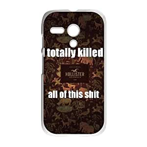 Personalized Durable Cases Motorola Moto G Cell Phone Case White Hollister Co Xcmof Protection Cover