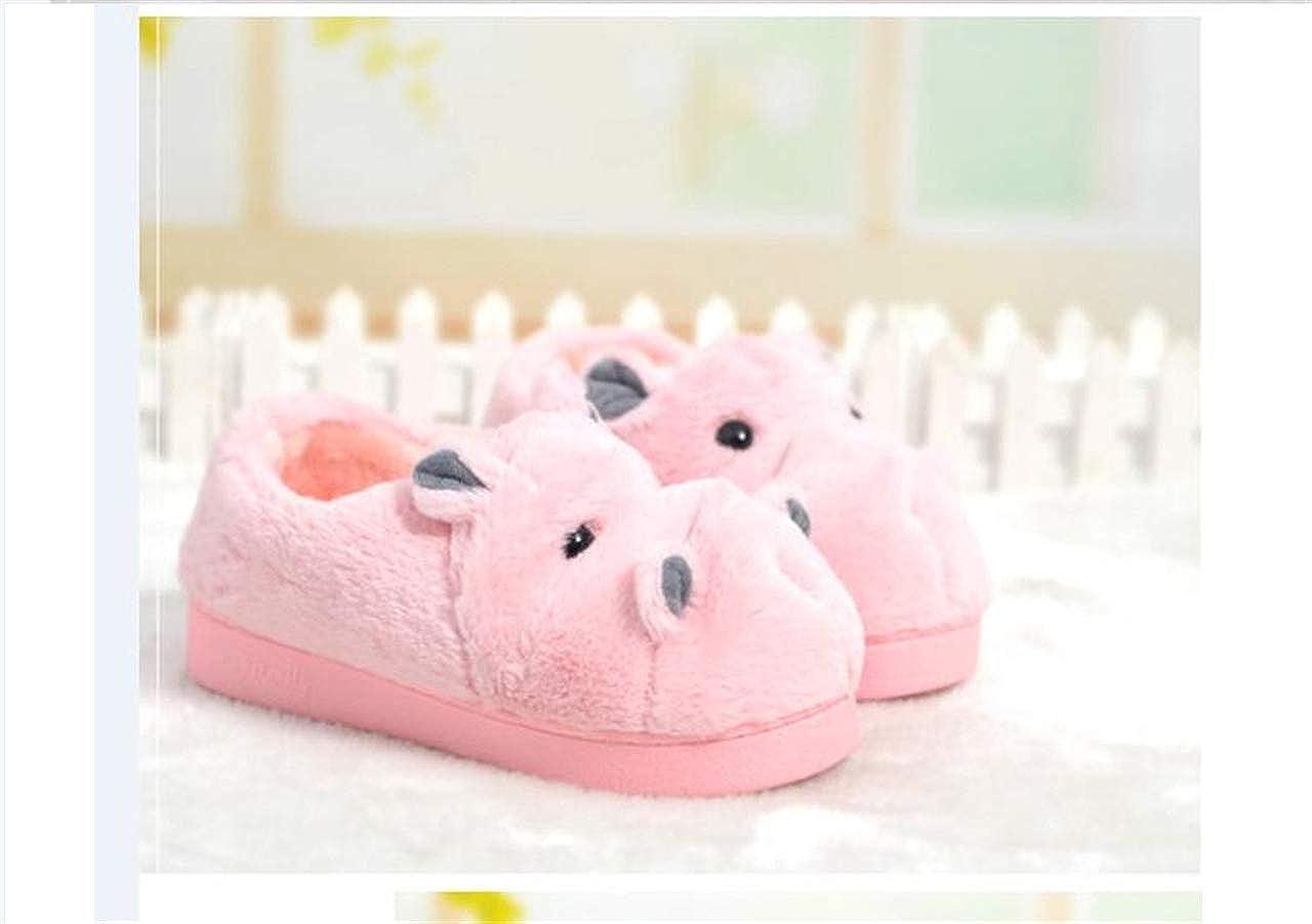LANFIRE Pantoufles en Coton pour Enfants et Adultes Pantoufles pour la Maison Hippo Chaussons de Dessin anim/é