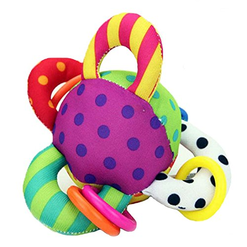 [gangnumsky baby hand ring dot ball toy teethers rattles colorful ball ring baby educational toys enjoy] (Weed Bag Costume)