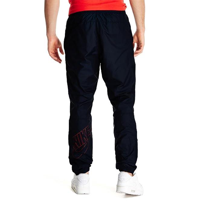 Nike - Pantalón Deportivo - para Hombre Negro Negro/Rojo S: Amazon ...