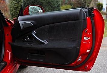 Black Alcantara-Blue Thread RedlineGoods Door Insert Covers AP2 Compatible with Honda S2000 1999-09