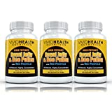 Vivid Nutrition High potency Royal Jelly and Bee Pollen with Bee Propolis (3 Bottles) - All-Natural, Highly Concentrated Formula - 90 capsules each