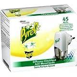 Pyrel Diffuseur électrique anti-moustiques sans parfum 45 nuits