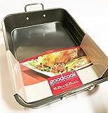 Premium Non-Stick Large Deep Roasting Pan with Handles (16.25'' X 10.75'' X 3'' Deep)