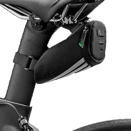 ROCKBROS Black Bicycle Bike Reflective Mini Small Saddle Bag Band Installation