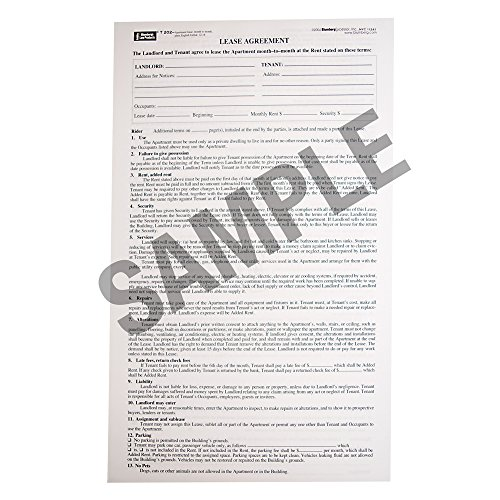 Blumberg New York Month-to-Month Apartment Lease Form 202 (8.5 X - And Landlord Tenant Lease