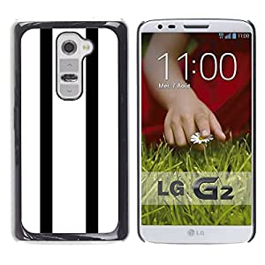Planetar® ( Stripes Bowling Minimalist White ) LG G2 / D800 D801 D802 D803 VS980 LS980 Fundas Cover Cubre Hard Case Cover