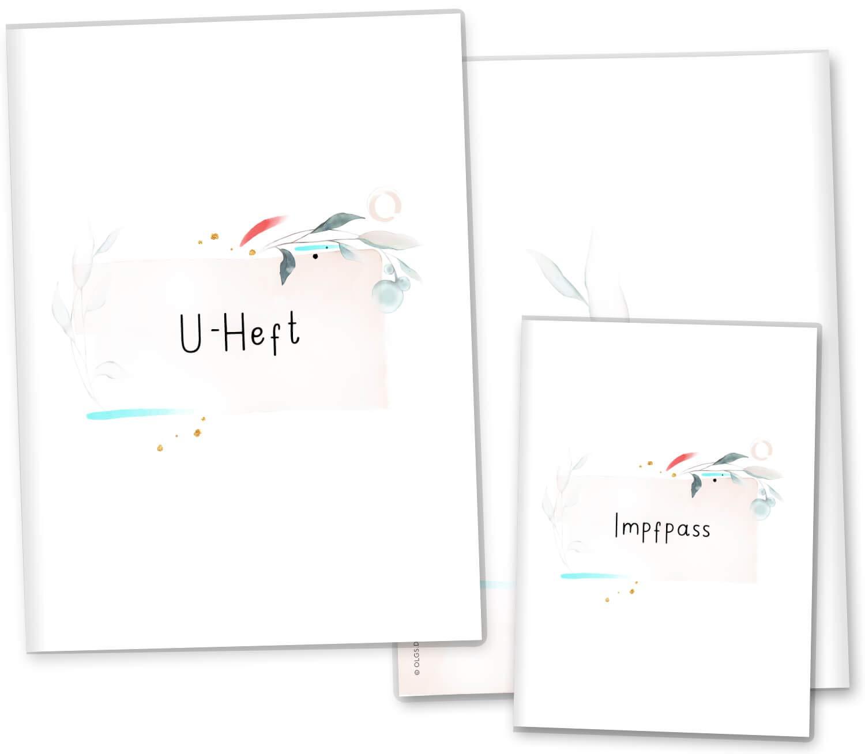 U-Heft Set 3-teilig ohne Personalisierung, Aquarell-01 U-Heft H/üllen 3-teilig Set Amazing Aquarell Untersuchungsheft H/ülle /& Impfpassh/ülle sch/öne Geschenkidee