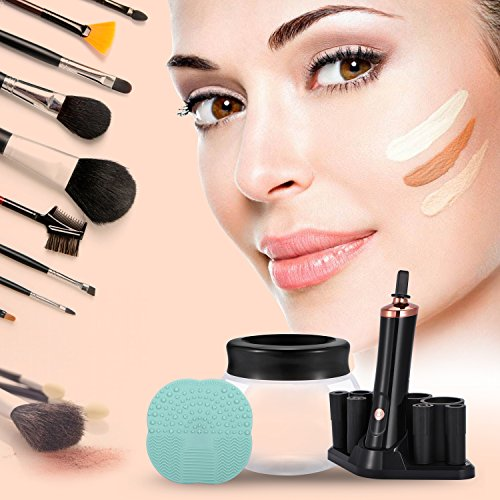 Makeup Brush Cleaner, Portable Automatic Brush Dryer and Cleaner, Deep Thorough Cleaning in Seconds, Suits Most Make Up Brush, Black Cleaning Spinner/Kits for Women … by ADDSMILE (Image #5)