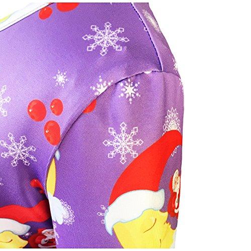 Filles Soleil Mode Robe Noël Noël Père Noël Arbre Jingle Taille Cloche 3-12 Ans Violet