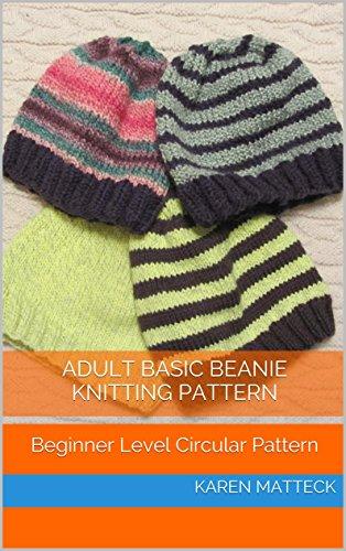 Amazon Adult Basic Beanie Knitting Pattern Beginner Level