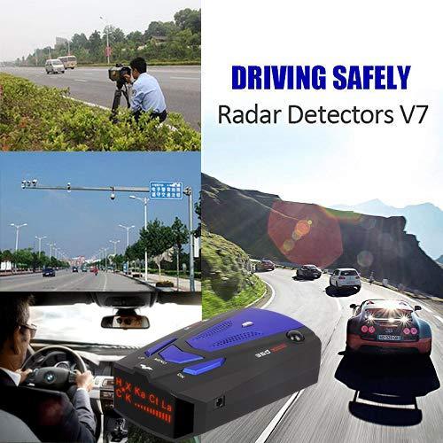 Amazon.com: RICHOYY Radar Detector, Voice Prompt Speed, City/Highway Mode Radar Detector for Cars (FCC Certification). (Blue): Electronics
