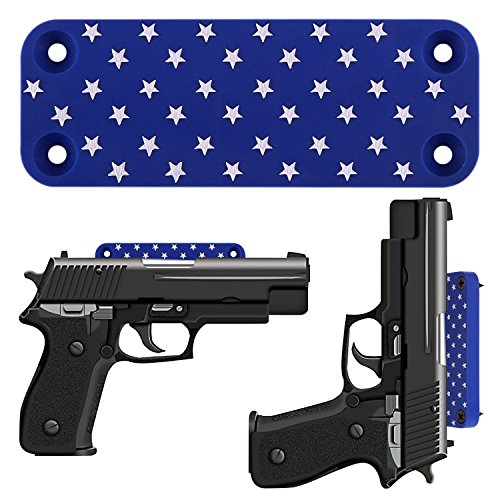 Gun Magnet Mount - The Best Holster For Vehicle And Home, Rubber Coated 40 Lbs Rated (STAR A)
