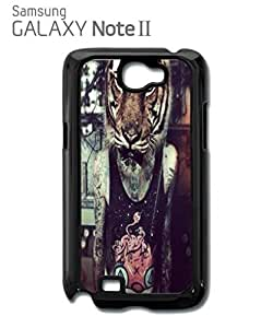 Tiger Head Tattoo Guy Retro Mobile Cell Phone Case Samsung Note 2 Black