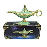 NICHNAOO Vintage Aladdin Magic Genie Lamp Incense
