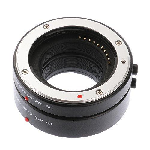 Ruili Metal Auto Focus Macro Extension Tubes 10mm 16mm Set DG for Fujifilm FX X-H1 X-E3 X-T10 X-T1 X-T2 X-T20 X-Pro1 X-Pro2 X-M1 X-A1 X-A2 X-A3 X-A5 X-A10 X-A20 X-E1 X-E2 X-E2S Camera, Extreme Close