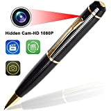 Pen Camera – Bysameyee Wireless Covert Camera Mini PenCam HD 1080P, Portable Meeting Video Pen Recorders DVR