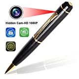 Pen Camera – Bysameyee Wireless Covert Camera Mini PenCam HD 1080P, Portable Meeting Video Pen Recorders DVR