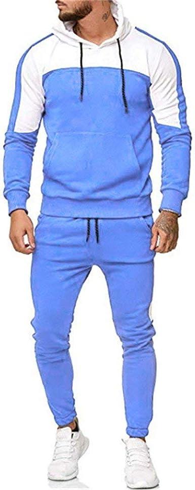 Hombres Chándales Casuales Chándal Conjuntos de Pantalones Jogger ...