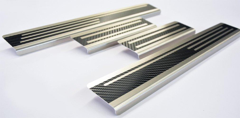 WGS Einstiegsleisten Lackschutz Aluschutz mit Abkantung Carbon auf AluNox® (2117-704) WGS-Shop