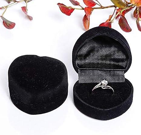 Leisial Bo/îte /à Bague en Plastique Coeur Bague Bleu Coque /Écrin Cadeau Coffret Cadeau Organisateur pour Collier et Bracelet 1