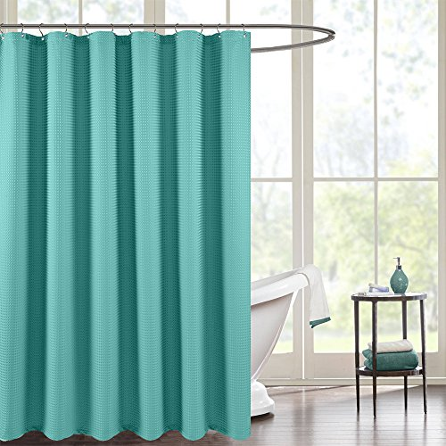 """Lazzzy Waffle Weave Textured Shower Curtains 1 Panel, 72"""" Tu"""