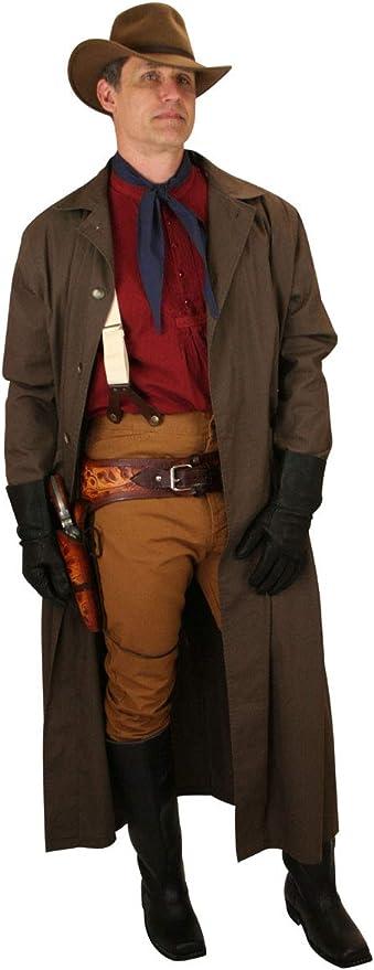 Men's Steampunk Jackets, Coats & Suits Historical Emporium Mens Water Repellent Cotton Duster $99.95 AT vintagedancer.com