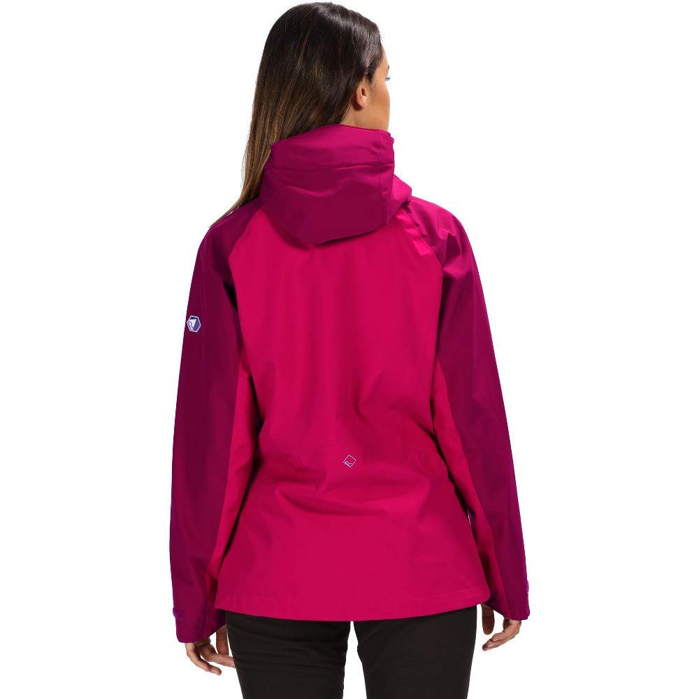 Regatta Womens Birchdale Waterproof and Breathable Sealed Hooded Active Hiking Shell Chaqueta Mujer