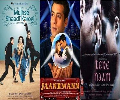 Mujhse Shaadi Karogi / Jaan-e-man / Tere Naam - 3 in One Dvd (100% Orginal Without Subtittle) (Jaan E Mann)