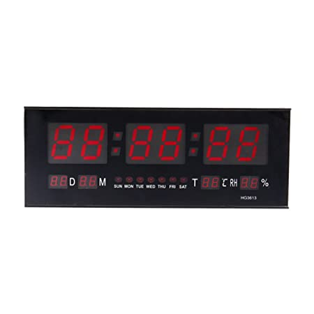 ZJchao Large Digital Big Digits LED Wall Clock Alarm Timer Battery
