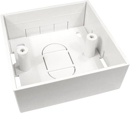 Cablestar - Caja para zócalo de pared para conexión Ethernet (conector RJ45, categoría 5e): Amazon.es: Electrónica