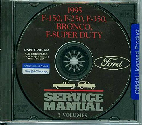 1995 FORD TRUCK & PICKUP FACTORY REPAIR SHOP & SERVICE MANUAL CD - INCLUDES Bronco, F-150, F-250, F350, F-Super Duty - COVERS Engine, Body, Chassis & Electrical. 95 - Ford F250 Pickup Radiator