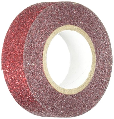 Best Creation Glitter Tape, 15mm by 5m, Red