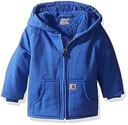 Carhartt Little Girls\' Toddler Sherpa Lined Redwood Jacket, Blue, 4T