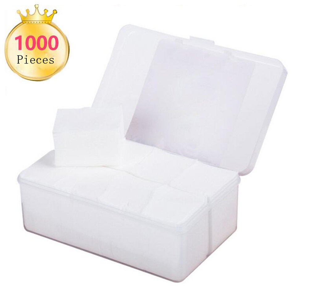 1000Pcs By a Box Portable Double-side Makeup Facial Soft Cotton Pads Soft Hypoallergenic and Lint free Cotton Wipes for Applying Lotion Removing Face Makeup Eye Makeup and Nail Polish