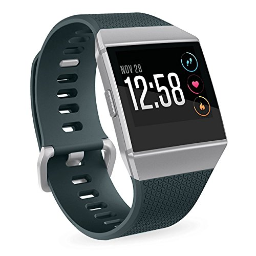 For Fitbit Ionic Watch Bands,Silicone Sport Replacement Strap Accessories Wristband for Fitbit Ionic Smartwatch Kids Women Men Gray Blue (022 Watch)