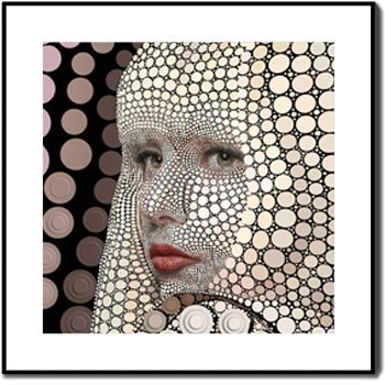 3d Fx Best Quality Beautiful Lady Gaga 3d Picture Art the Deep 3d Effect with Black Frame 24x24