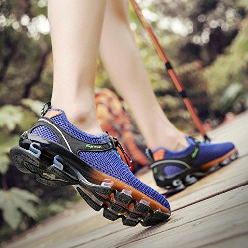 Scarpe Blu Scarpe Sneaker Uomo Ginnastica Ventilazione Sportive SmrBeauty Confortevole Nette da da Sportive Corsa Respirabile Interior Scarpe Basket Piattaforma all'Aperto Casual FdRnRwq8