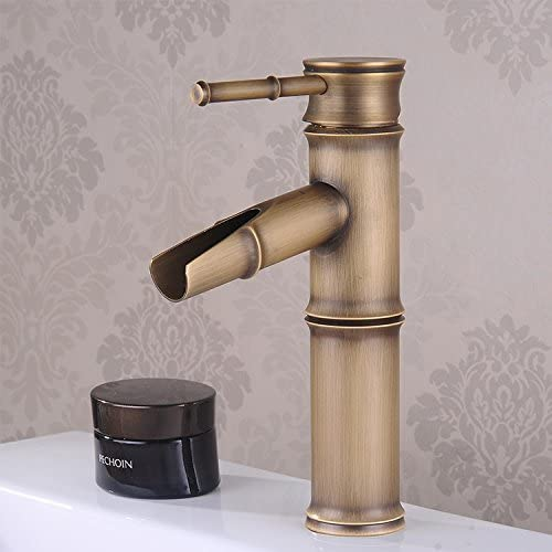 SADASD Moderno Cuarto de baño Completo Cobre Lavabo Monomando ...