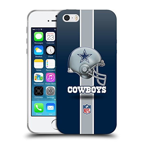 Price comparison product image Official NFL Helmet Dallas Cowboys Logo Soft Gel Case for Apple iPhone 5 / 5s / SE