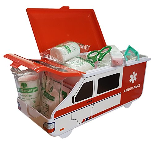 Toddler First Aid Kit - Baby & Child Health Care Supplies in American Ambulance Box - Compact and Travel Friendly, Perfect for Home, Boat, Caravan, Car